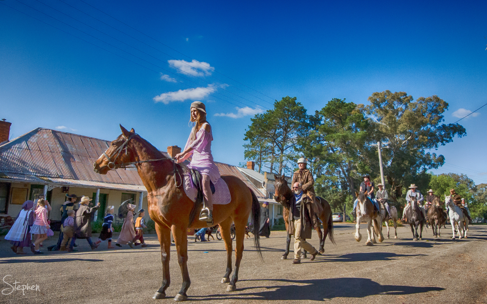 Street parade for Binalong Wild Colonial Weekend