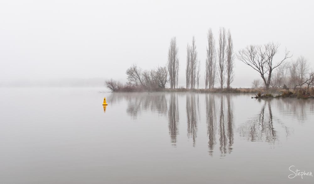 Fog filled morning at Jerrabomberra Wetlands