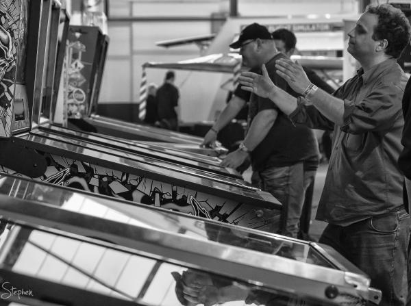 Pinball Championship at the Big Boys Toys expo