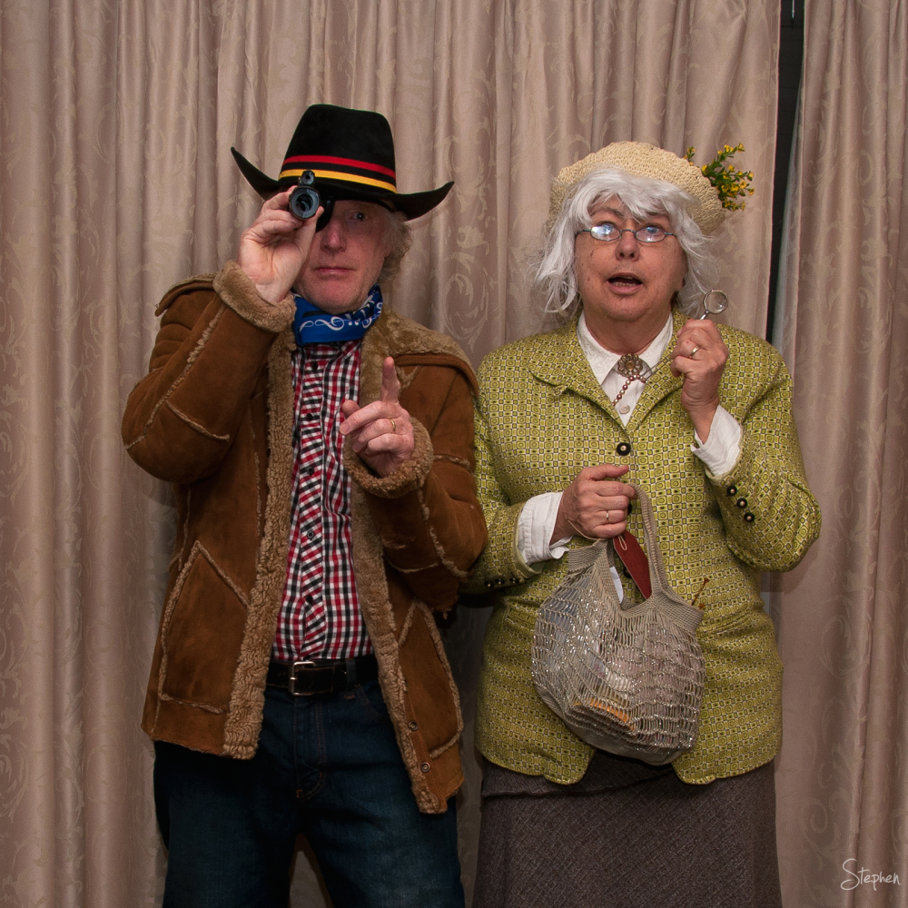 Fancy dress - Rooster Cogburn and Miss Marple