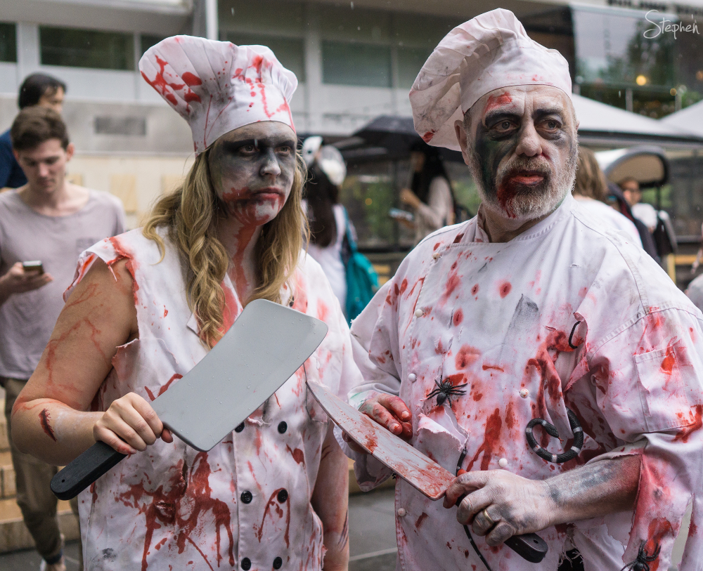 Chef characters on Canberra Zombie Walk