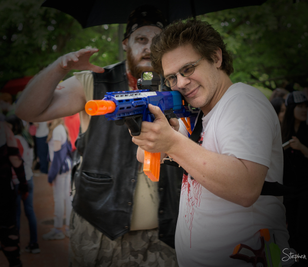 Zombie hunter on the Canberra Zombie Walk
