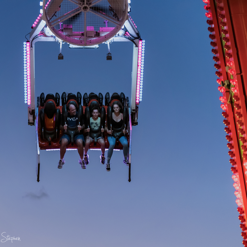 sideshow alley ride at Canberra Show