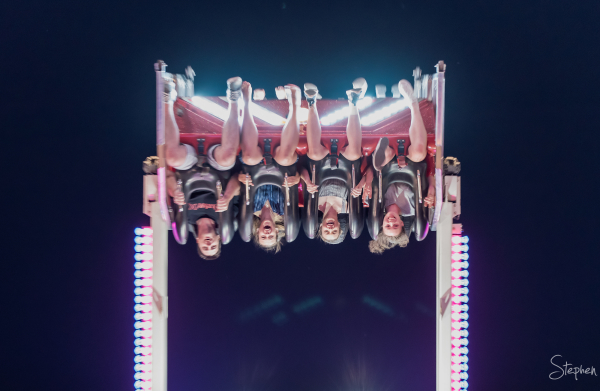 Sideshow alley rides at Canberra Show