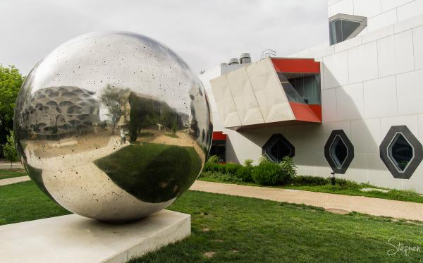 Sphere sculpture at Australian National University
