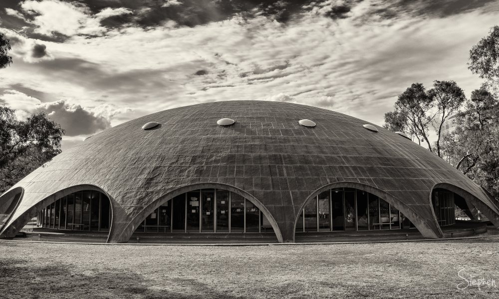 Futuristic design of Shine Dome in Canberra