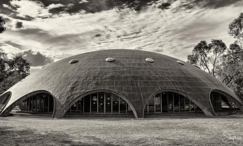 Futuristic design of Shine Dome in Canberra