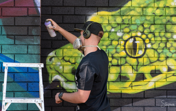 Co-Lab Science meets street art mural