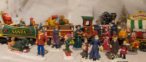 Santa train and Christmas Village
