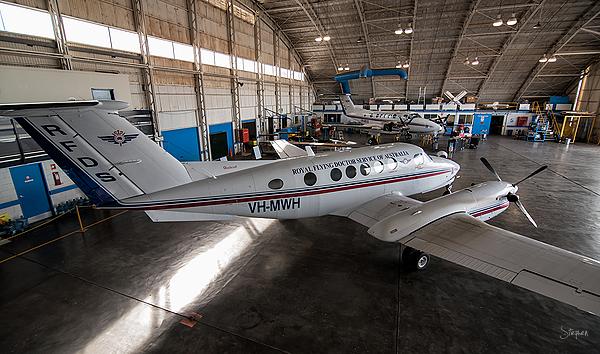 Flying Doctor hanger in Broken Hill