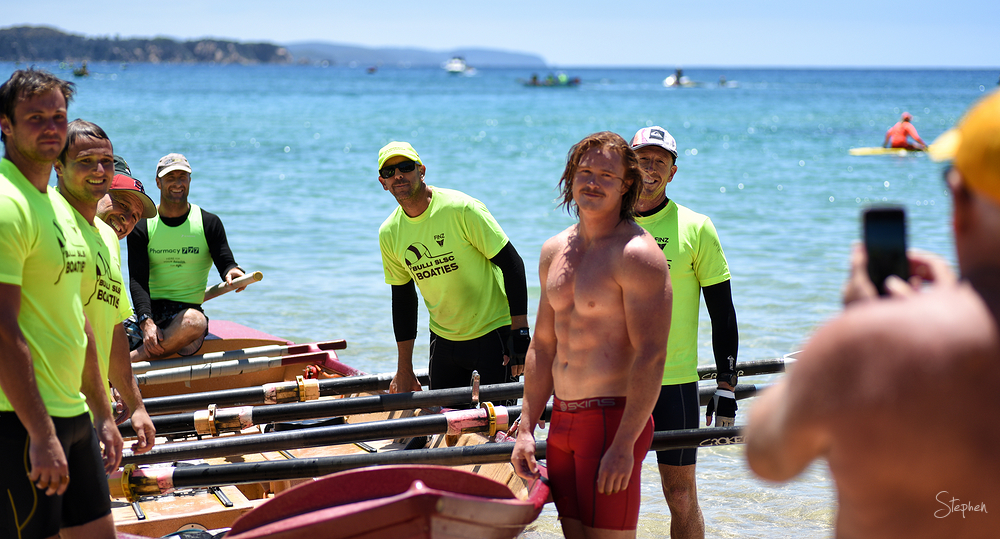 Bulli surfboat marathon open men's crew at Tathra