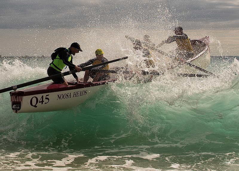 Noosa crew at Narooma for surfboat marathon