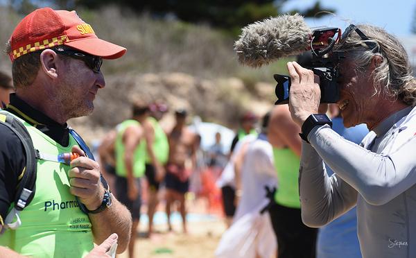 Surfboat marathon stage at Tathra