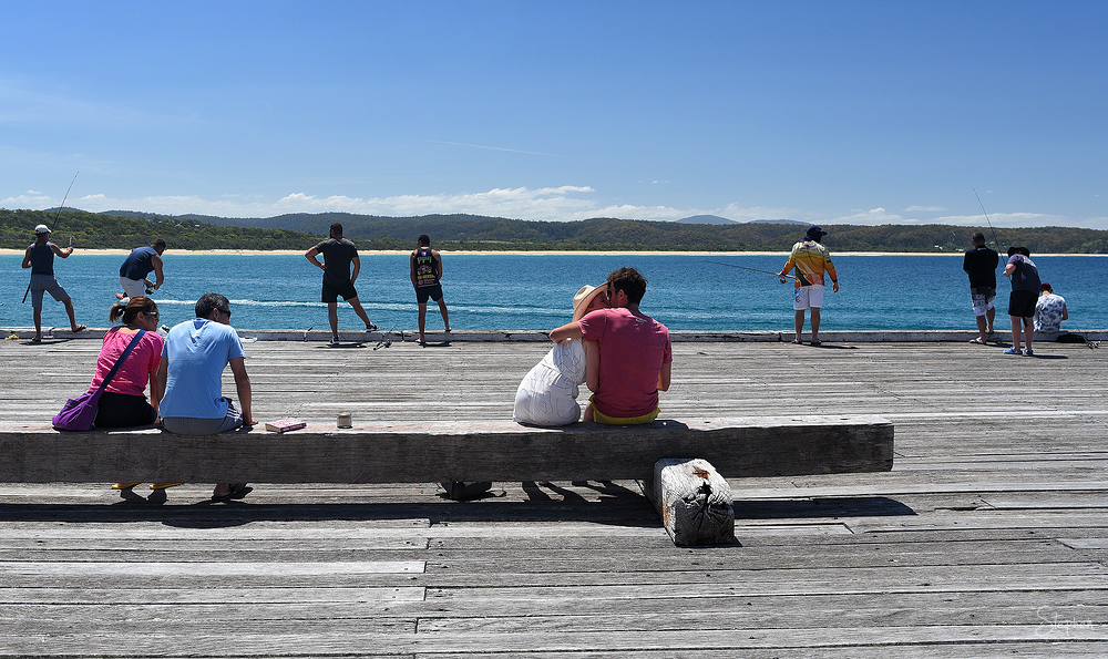 Street photography at Tathra Wharf