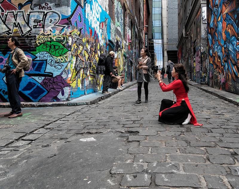 Street art in Hosier Lane Melbourne