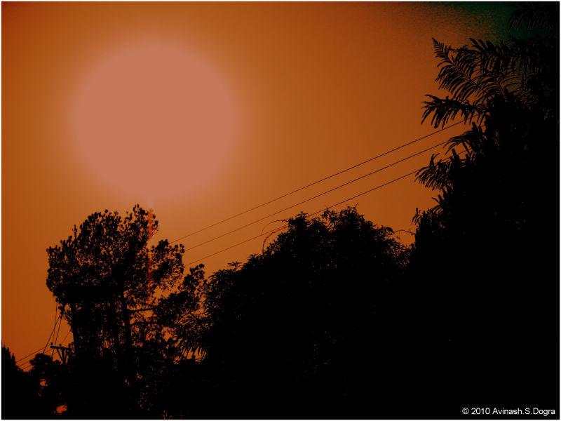 Hot red Sun