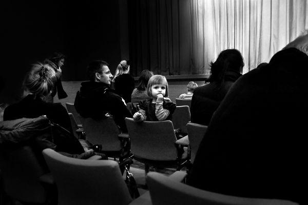 Girl in theater