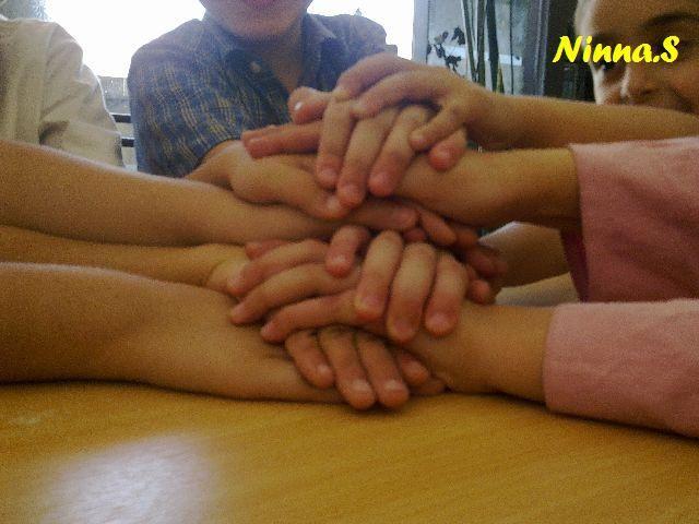 Friends hand