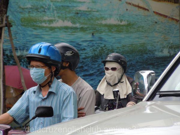 Ho Chi Minh, Saigon, motorbike, air pollution