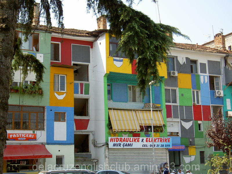 Tirana, Albania, building aesthetics,  Geometric