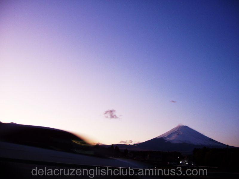 Mt. Fuji, twilight, dormant volcano, Gotenba