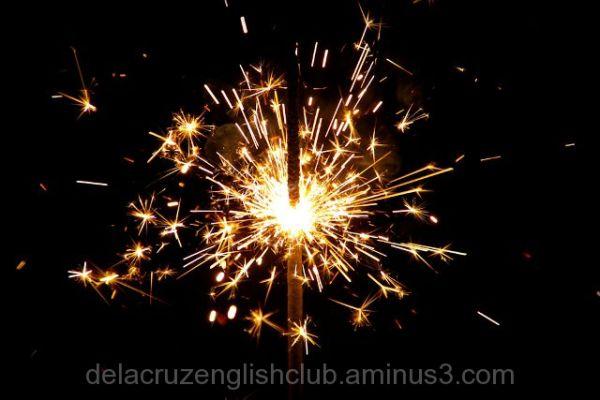 New Year sparkler
