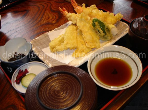 tempura, deep fried, battered seafood, vegetable