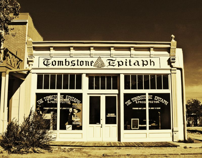 TOMBSTONE EPITAPH
