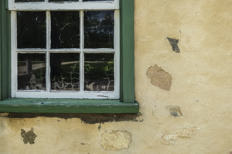 Green Window Frame
