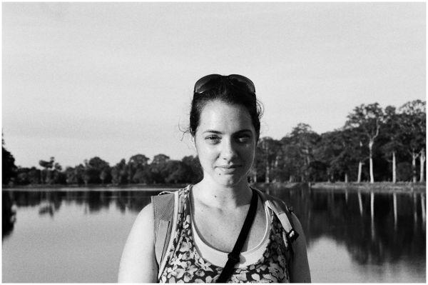 Rebecca at Angkor Wat
