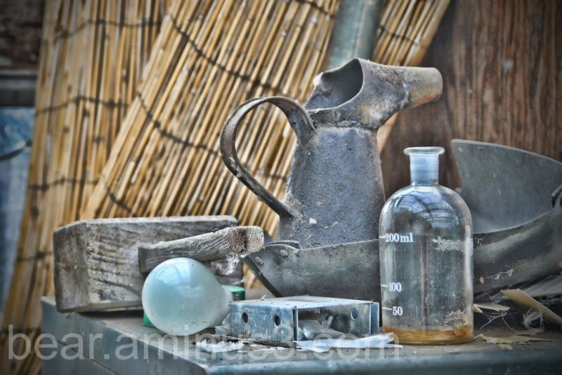 Old Glass house still life