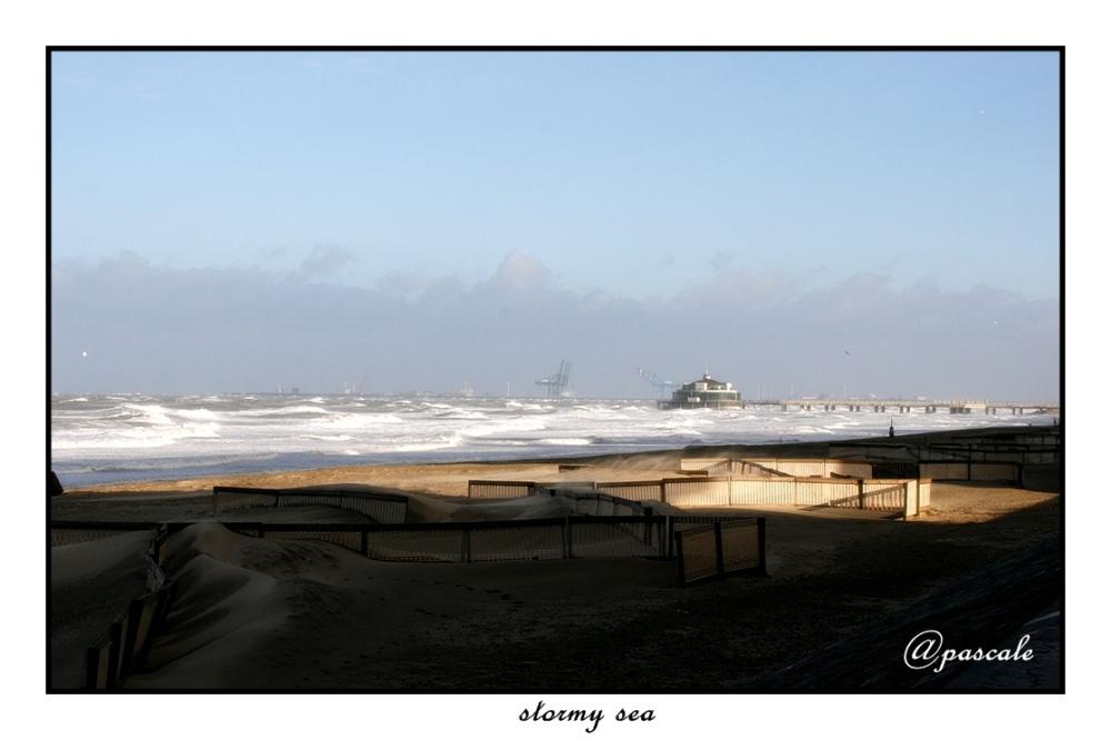 beach, blankenberge, belgium, storm , sea