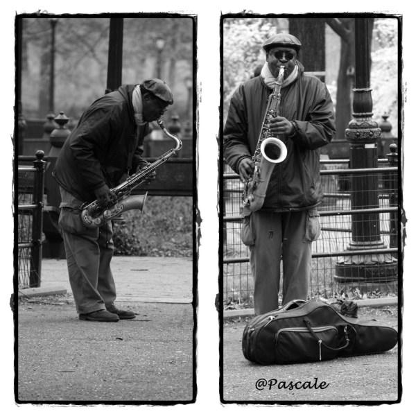 NY Central park  Saxophone