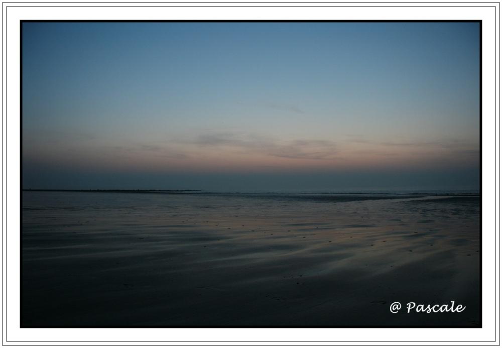 sea , beach ,night photography, Ostend