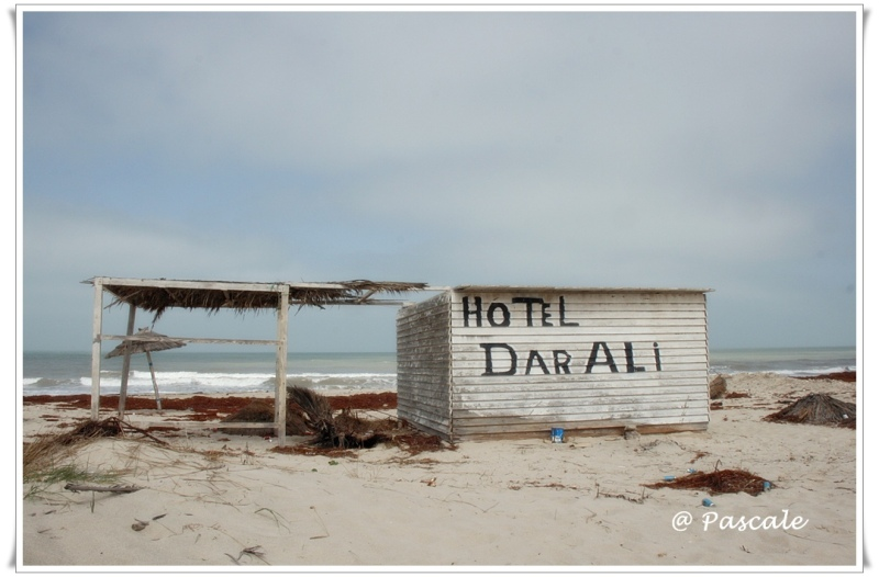 Djerba , beach , abandoned ,beach house