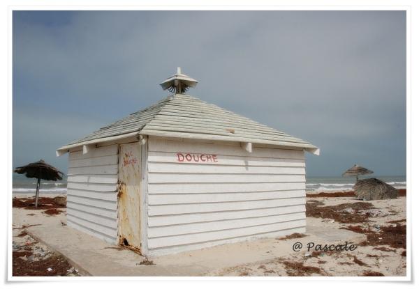 Djerba, beach , abandoned, beach house