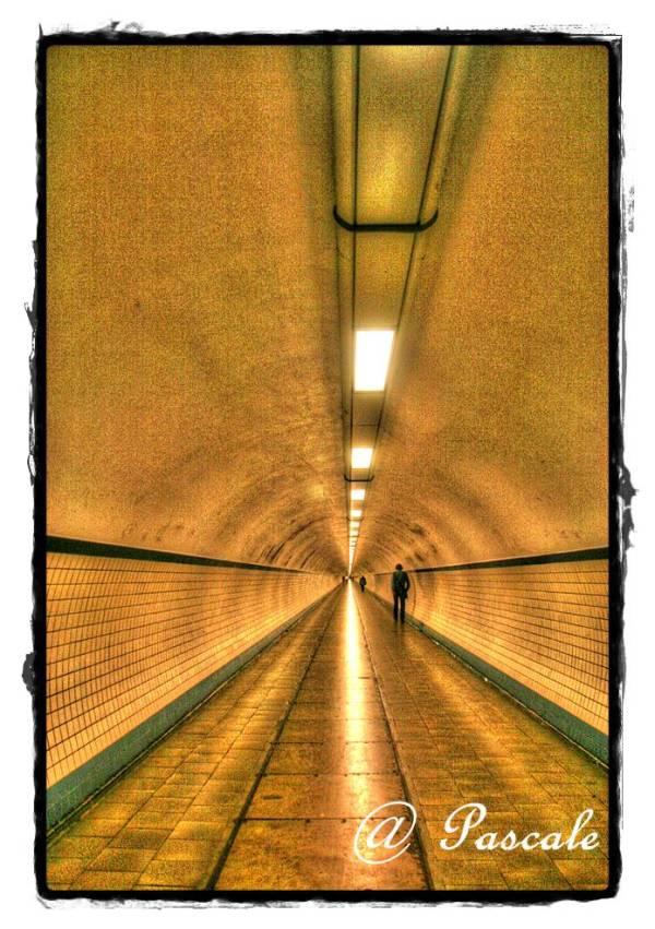 antwerp, pedestrian tunnel, Sint anna