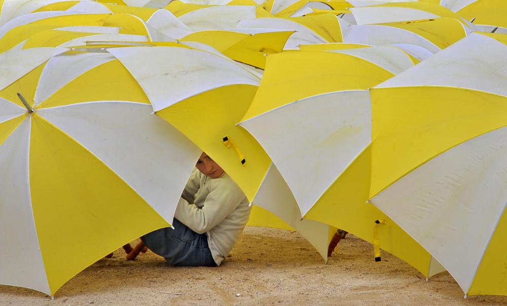 pluie de parapluies