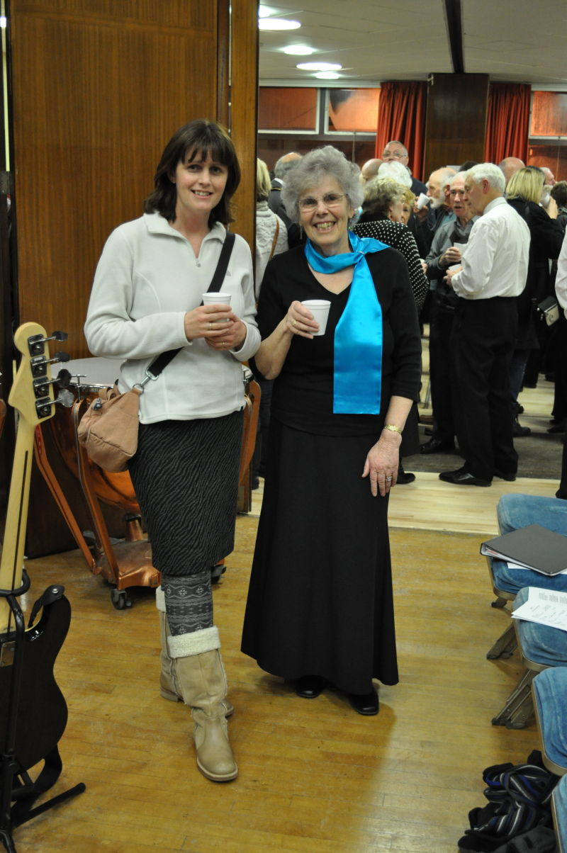 Sally and Rosemary at the concert interval