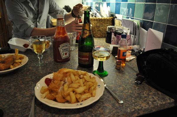 Fish supper & Champagne