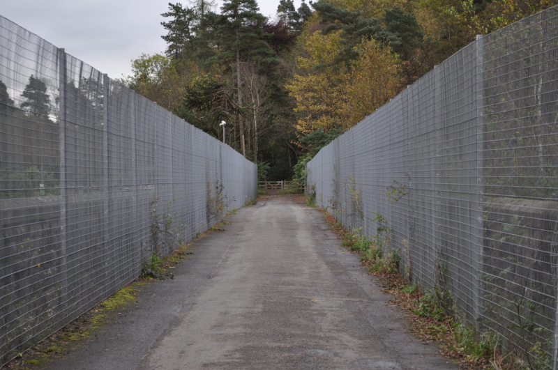 Anti terrorist fences at Milngavie reservoir