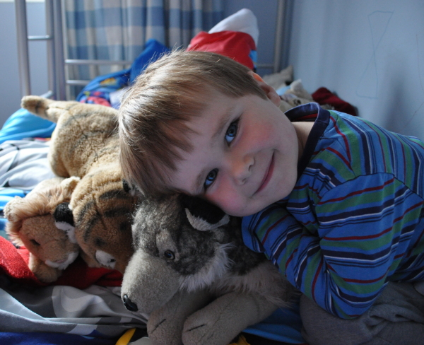 Hamish and his Wolf