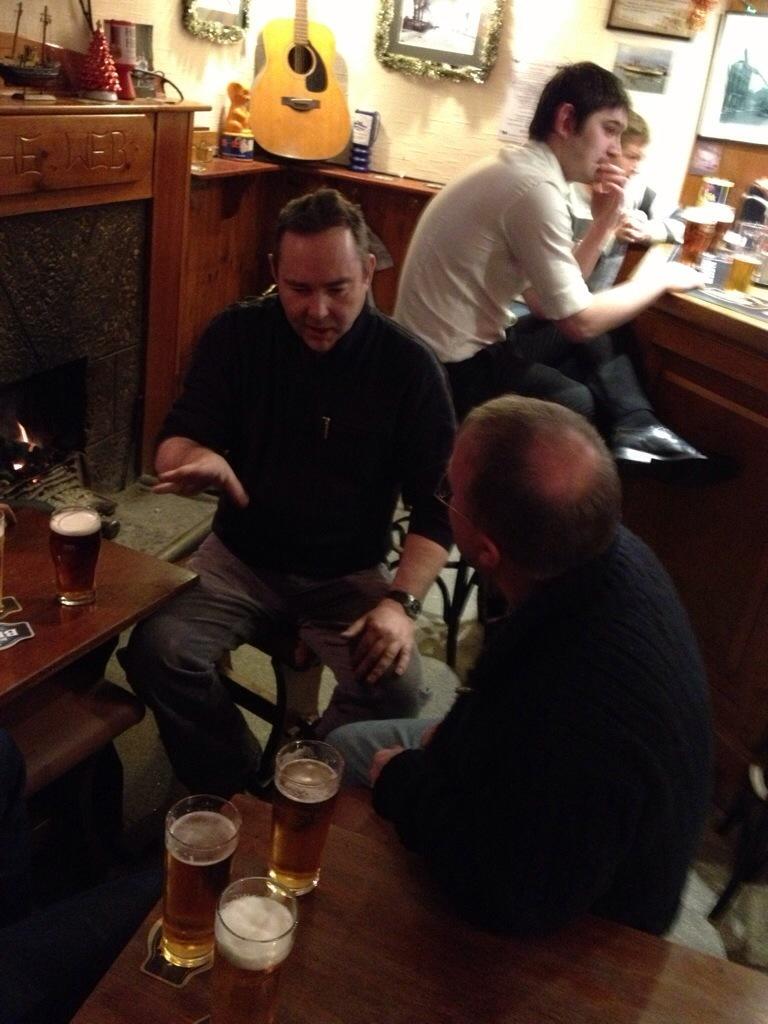 Chalky in the Argyle Arms, Ardrishaig