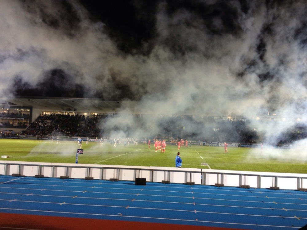 Fireworks at the Derby Match