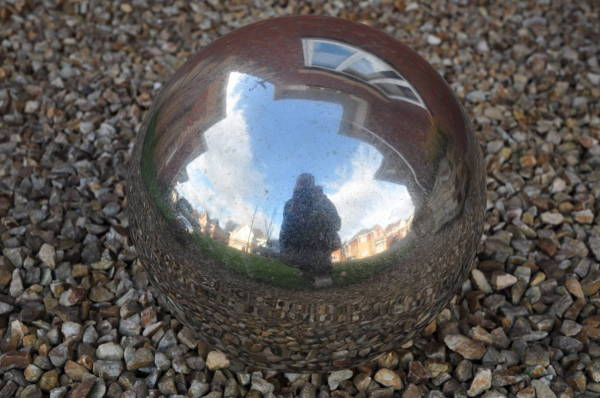 Self Portrait in a Silver Ball Thingy