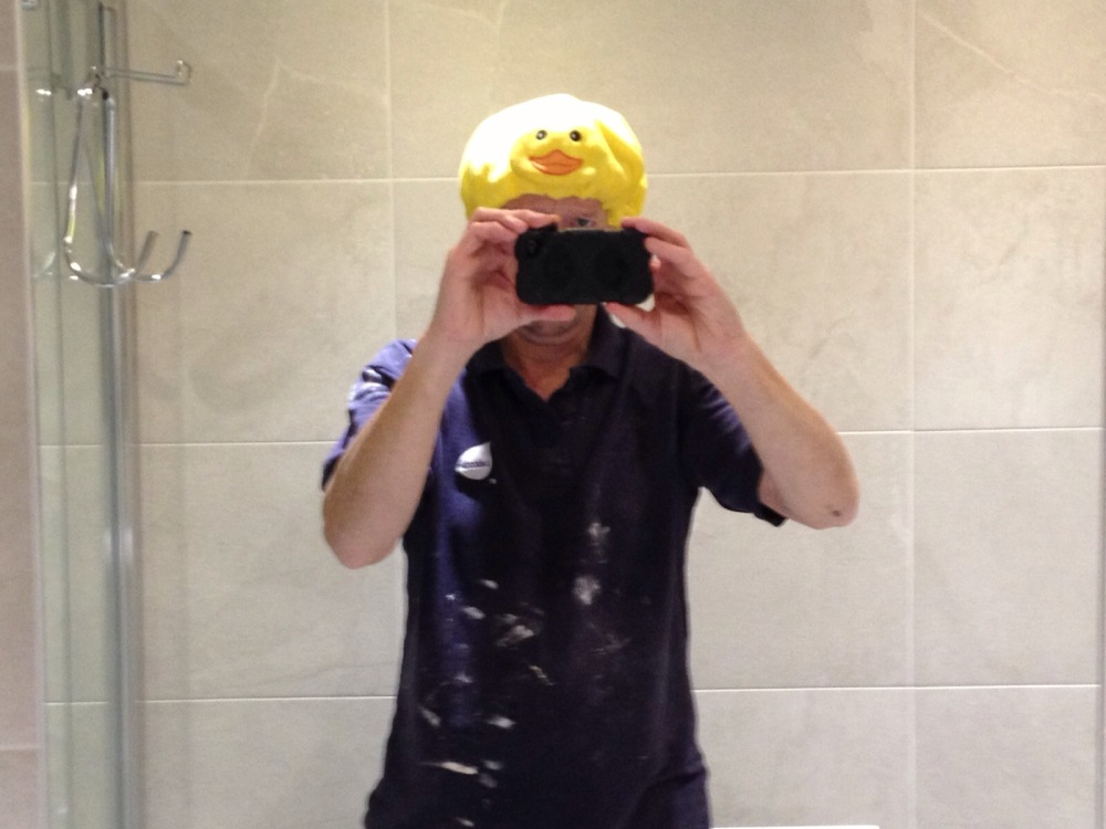 Self portrait in a Shower Room