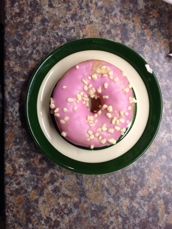 Pink Donut, Chipped Plate