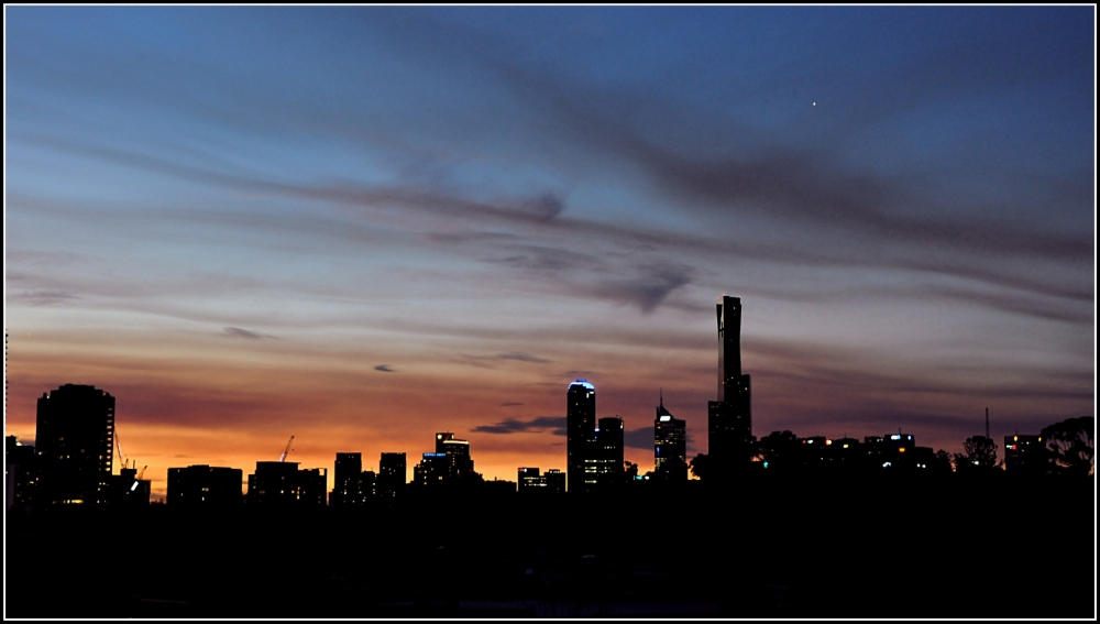 melbourne at sunset