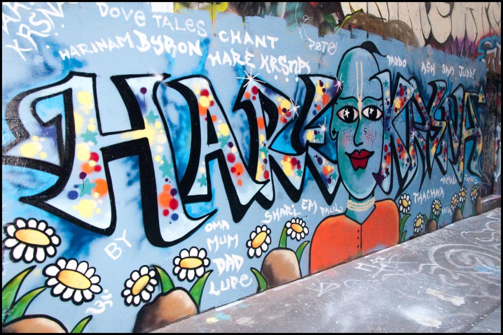 hare krishna graffiti