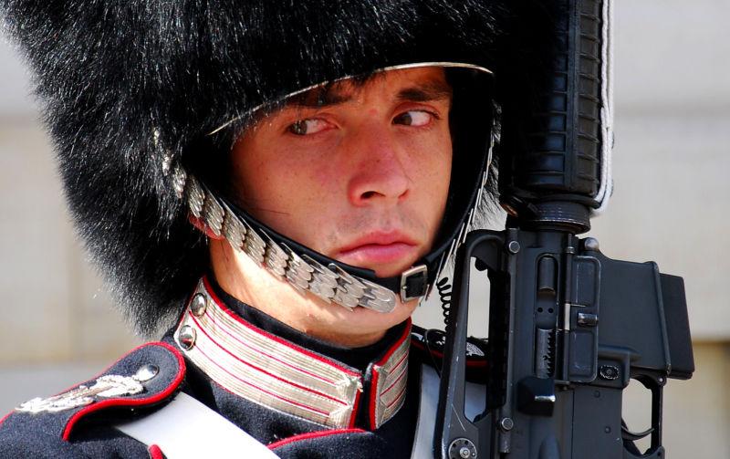 Royal guard à Copenhague
